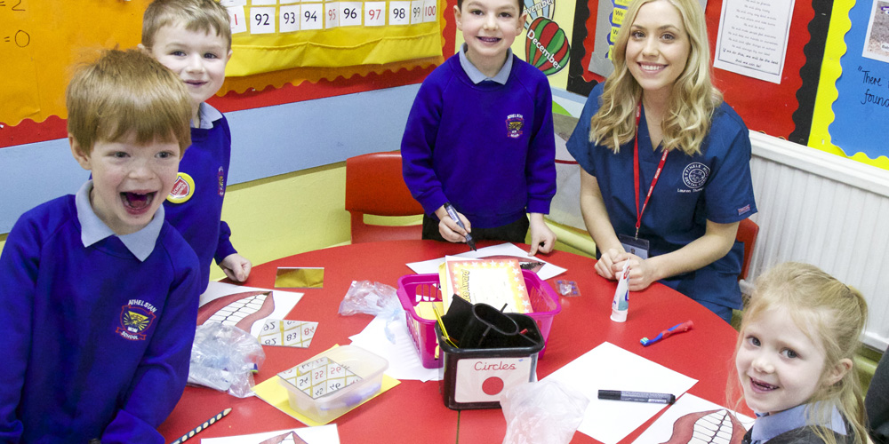 School visit by Finkle Hill gets tops marks!